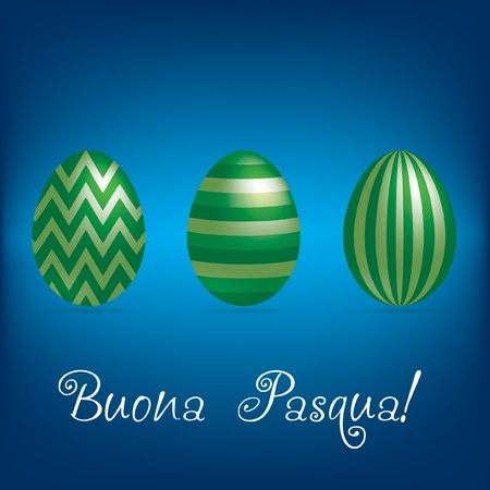 pasqua: Italian  Happy Easter  bright egg card