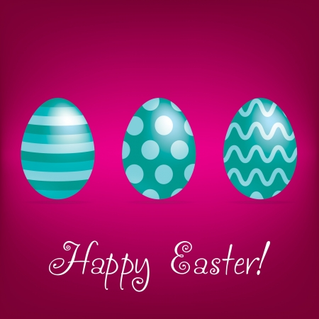 Happy Easter  bright egg card Vector