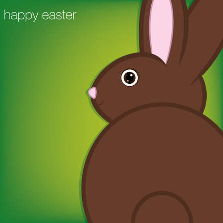 bunny ears: Easter bunny card  Illustration