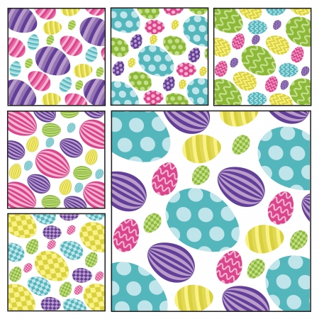 pasqua: Easter egg backgrounds Illustration
