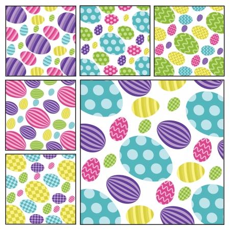 pasqua: Easter egg backgrounds Illustration