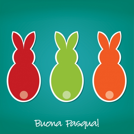 Italian Easter Bunny card  Vector