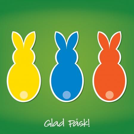 swedish: Swedish Easter Bunny card