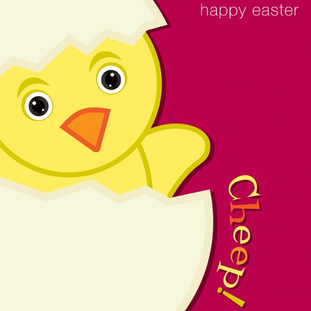 chirp: Cheep  Chick Happy Easter Card in vector format