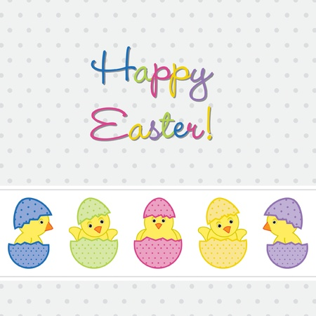 Baby Chicks Easter card in vector format  Vector