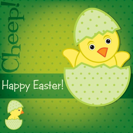 Baby Chick Easter card in vector format Stock Vector - 19734985