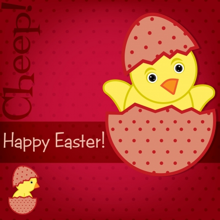 Baby Chick Easter card in vector format Stock Vector - 19734963