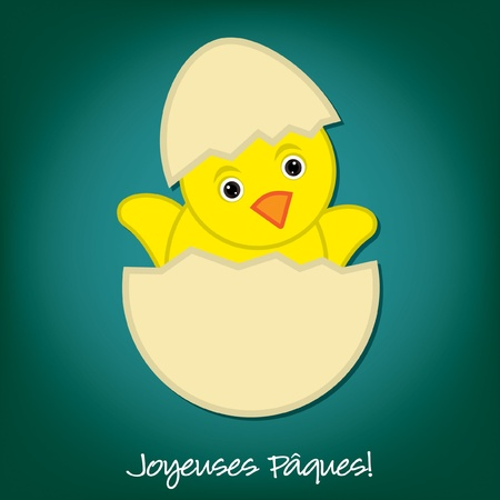 Baby Chick Easter card in vector format  Vector