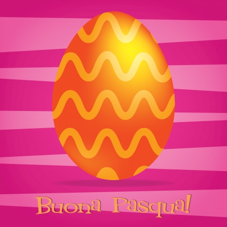 pasqua: Bright Italian Happy Easter card in vector format  Illustration