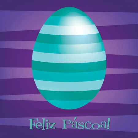 Bright Portuguese Happy Easter card in vector format    Vector