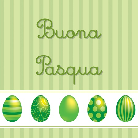 pasqua: Italian vector Easter card design