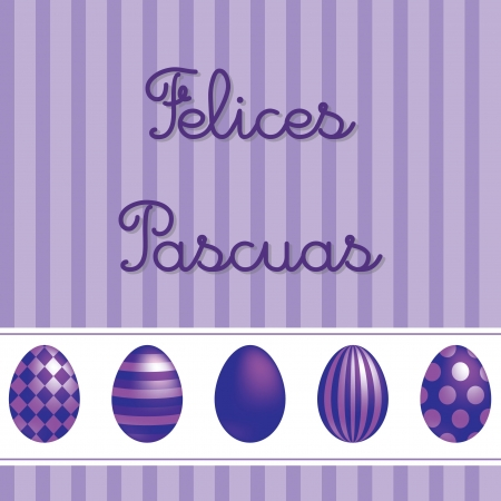Spanish vector Easter card design  Vector