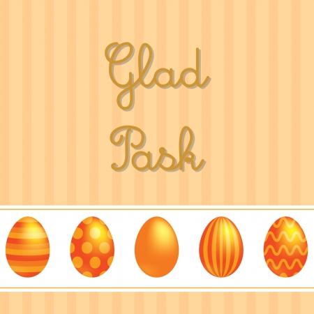 sverige: Swedish vector Easter card design  Illustration
