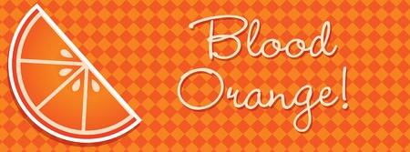 wedge: Bright blood orange wedge banner in vector format