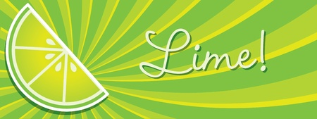 wedge: Bright lime wedge banner in vector format
