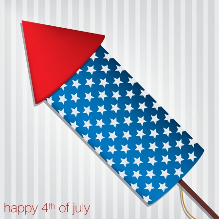 Independence Day cracker card Vector