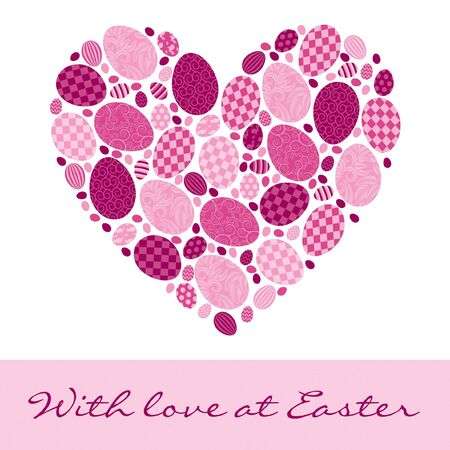 fuschia: English  With love at Easter  Card Illustration