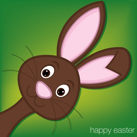 Hiding Easter Bunny card   Vector