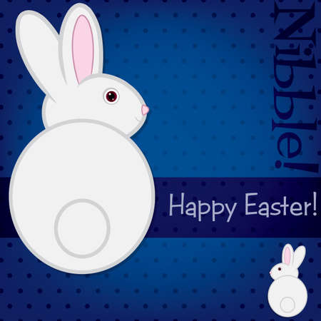 Easter bunny card  Vector