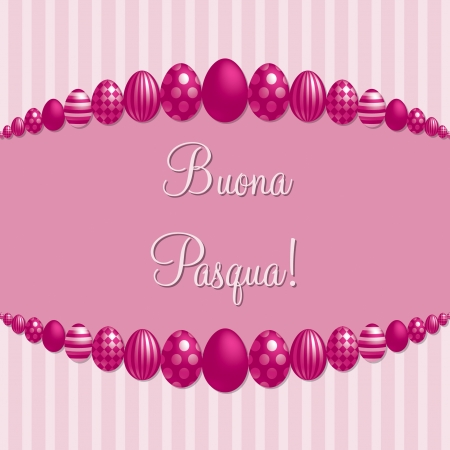 pasqua: Pink Italian  Happy Easter   card