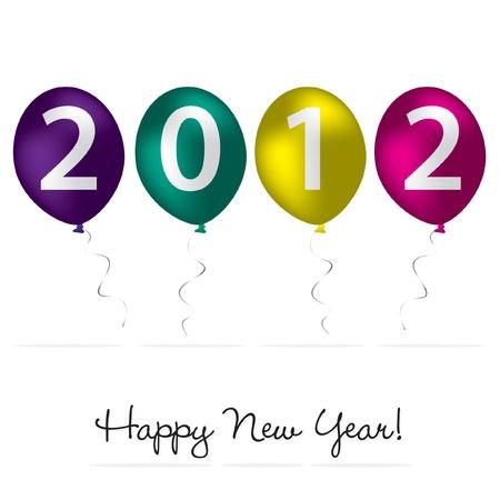 2012 Happy New Year card Vector