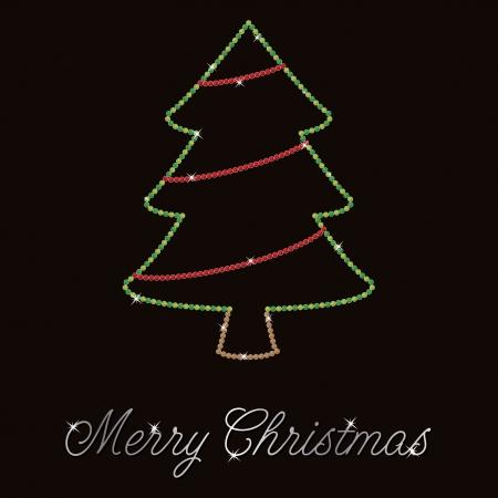 peridot: Bling Christmas tree card