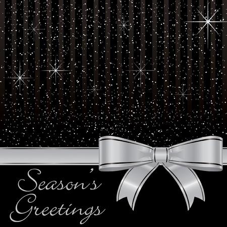 Bow and stars Christmas card