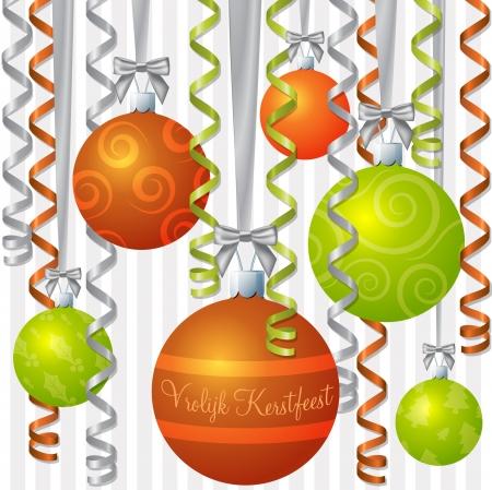 Nederlandse sinaasappel en limoen lint en snuisterij geïnspireerd Vrolijke Kerstkaart