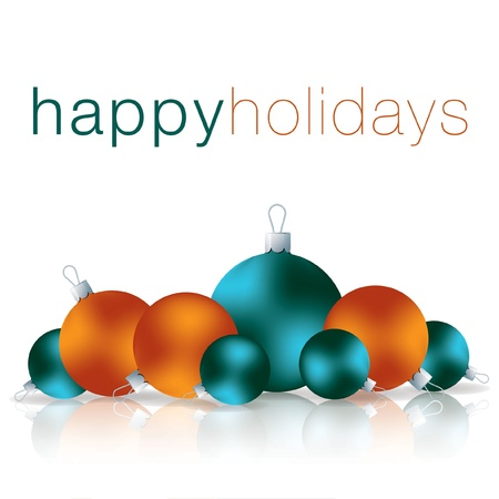 Happy Holidays bauble card