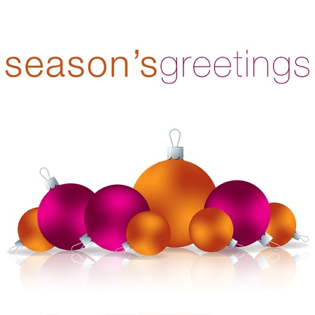 Season s Greetings bauble card  Vector