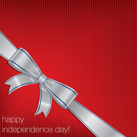 Independence Day  4th of July  card Vector