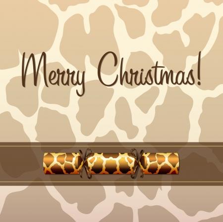 christmas cracker: Giraffe cracker Christmas card