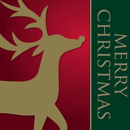 Elegant Reindeer Card  Vector