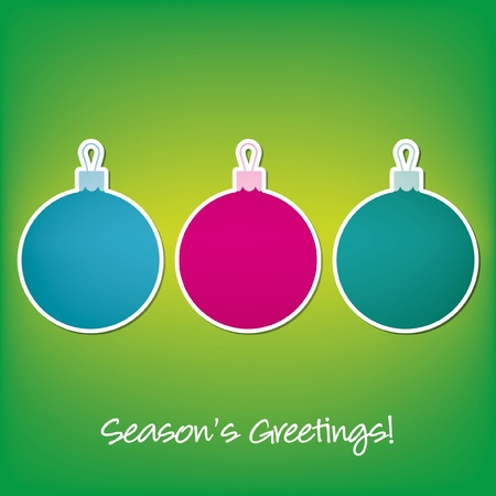 Season s Greetings sticker bauble card  Vector