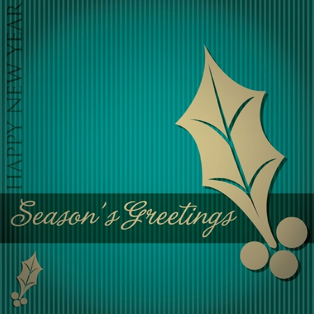 Cut out  Season s Greetings  tree card  Vector