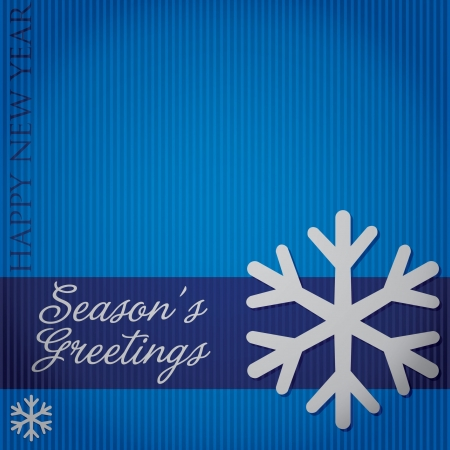 Cut out  Season s Greetings  snowflake card  Vector