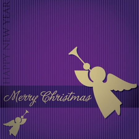 Merry Christmas  Angel card Vector