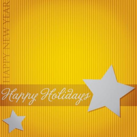 Happy Holidays  Star card  Vector