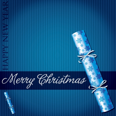 Merry Christmas snowflake cracker card  Vector