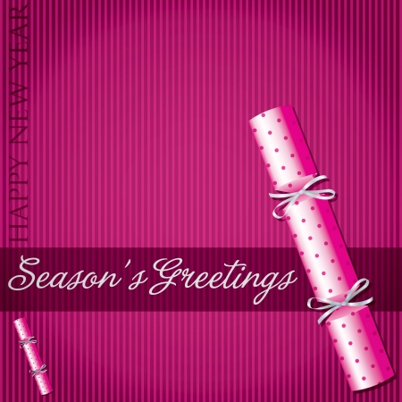 Season s Greetings polka dot cracker card Vector