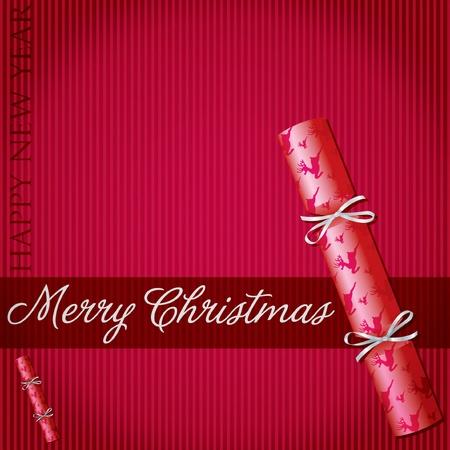 Merry Christmas reindeer cracker card  Vector