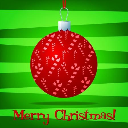 Bright bauble fun Christmas card  Vector