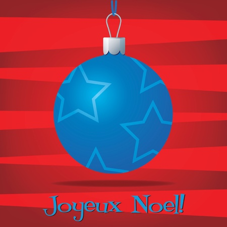 Funky French Christmas decoration card Vector