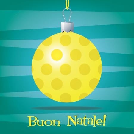 Funky Italian Christmas decoration card Vector
