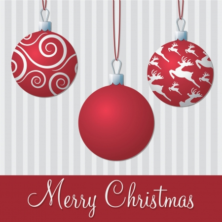 Formal red and silver Christmas card  Vector