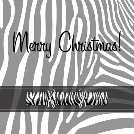Zebra Christmas cracker card  Vector