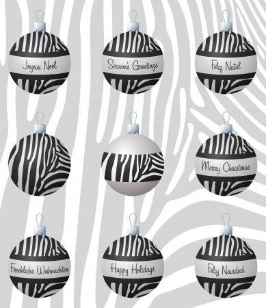 inspired: Zebra inspired Christmas baubles