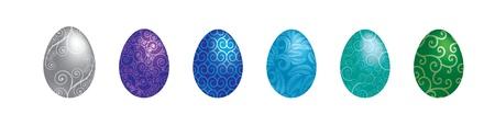 observance: A set of 6 Filigree patterned Easter Eggs