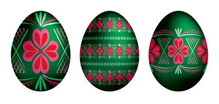 paskha: Traditional Russian Easter eggs Illustration