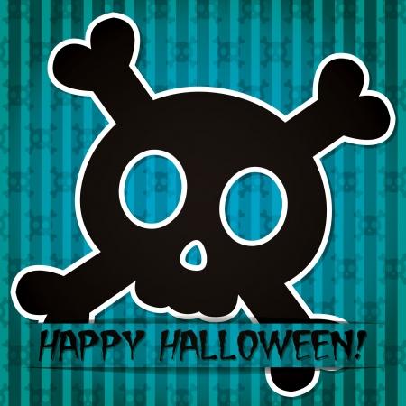 Happy Halloween  sticker card  Vector